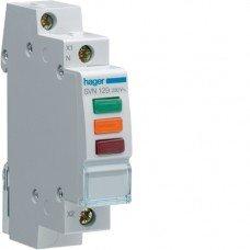 Индикатор тройной LED, 230В, красный/зеленыйх/оранжевый 1м Hager