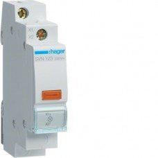 Индикатор LED 230В, желтый, 1м Hager