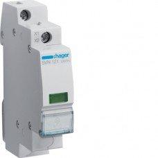 Индикатор LED 230В, зеленый, 1м Hager
