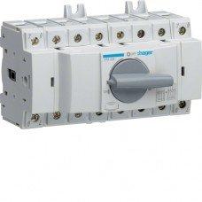 Переключатель модульный трехпозиционный I-0-II до 35мм2, 4п 80А Hager