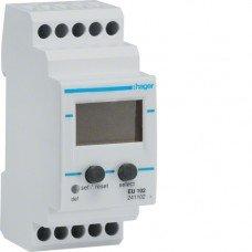 Реле контроля напряжения, 1-фазное, встроенный вольтметр 2м, Hager
