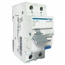 Дифференциальный автоматический выключатель Hager 1+N, 16A, 30 mA, С, 6 КА, A