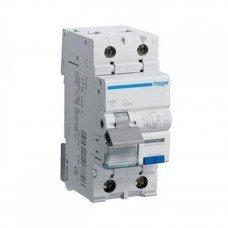 Дифференциальный автоматический выключатель Hager 1+N, 25A, 30 mA, С, 6 КА, A, 2м