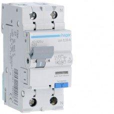 Дифференциальный автоматический выключатель Hager 1+N, 25A, 30 mA, B, 6 КА, A