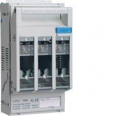 Разъединитель предохранителей NH00, 3х160А, на DIN или монтажную плиту, Hager