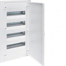 Щит распределительный пластиковый встраиваемый на 48 модулей, с белой дверцей, Hager Golf