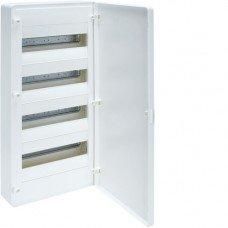 Щит распределительный пластиковый накладной на 48 (4х12) модулей, с белой дверцей