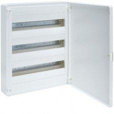 Щит распределительный пластиковый накладной на 54 (3х18) модуля, с белой дверцей