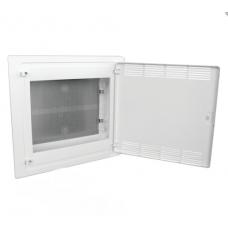 Щит 2-рядный для ММ-оборудования, в/у, белые пластиковые перфорированные двери Hager GOLF