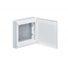 Щит 2-рядный для ММ-оборудования, навесной, белые пластиковые перфорированные двери Hager GOLF