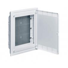 Щит 3-рядный для ММ-оборудования, в/у, белые пластиковые перфорированные двери Hager GOLF