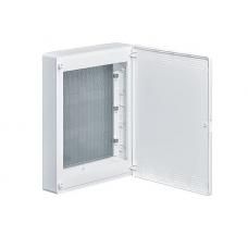 Щит 3-рядный для ММ-оборудования, навесной, белые пластиковые перфорированные двери Hager GOLF
