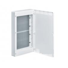 Щит 4-рядный для ММ-оборудования, навесной, белые пластиковые перфорированные двери Hager GOLF