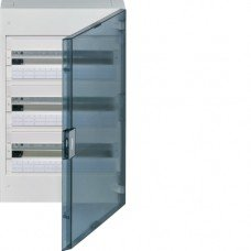 Щит наружного монтажа, прозрачная дверца, 54M, VEGA, Hager