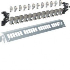 Hager Патч-панель 12-кратная под модули типа Keystone, с держателями