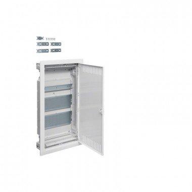 Hager VOLTA Щит 3-рядный для мультимедиа и связи, в/у с металлическими дверями - описание, характеристики, отзывы