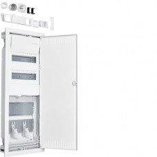 Щит врезной Hybrid: 24 модуля + 2 панели для ММ, стальные двери VOLTA Hager