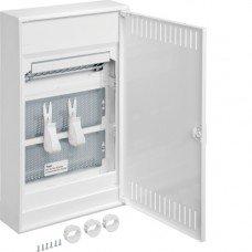 Щит 3-рядный для мультимедиа и связи, наружной установки с металлическими дверями, Hager VOLTA