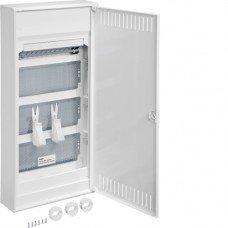 Щит 4-рядный для мультимедиа и связи, наружной установки с металлическими дверями, Hager VOLTA