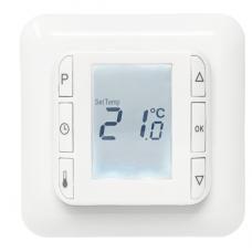 Термостат цифровой HC10 Busch Jager - с датчиками температуры пола и воздуха, IP20, 16 A Heatcom