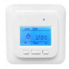 Термостат цифровой HC70 Busch Jager - с датчиками температуры пола и воздуха, IP21, 16 A Heatcom
