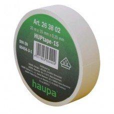 Изолента, 19 мм х 20 м, ПВХ белый, HAUPA