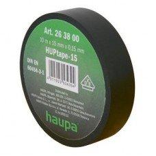 Изолента, 19 мм х 20 м, ПВХ черный, HAUPA