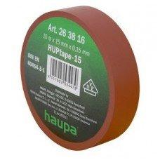 Изолента, 19 мм х 20 м, ПВХ коричневый, HAUPA