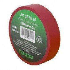 Изолента, 19 мм х 20 м, ПВХ красный, HAUPA