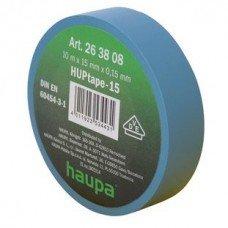 Изолента, 19 мм х 20 м, ПВХ синий, HAUPA