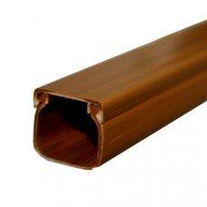 Короб прямоугольный (тёмное дерево) LHD 20х20 TD, 2м, KOPOS