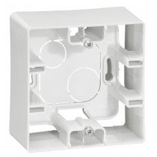 Коробка накладного монтажа 1-постовая  Белый ETIKA