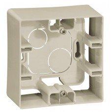Коробка накладного монтажа 1-постовая  Слоновая кость ETIKA
