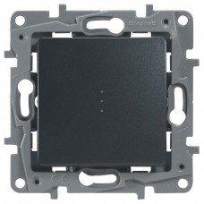 Выключатель / Переключатель с подсветкой с автоматическими клеммами Антрацит ETIKA
