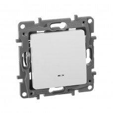 Выключатель / Переключатель с подсветкой с автоматическими клеммами Белый ETIKA