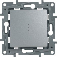 Выключатель / Переключатель с подсветкой с автоматическими клеммами Алюминий ETIKA