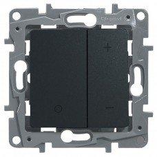 Светорегулятор нажимной 400Вт, Антрацит ETIKA