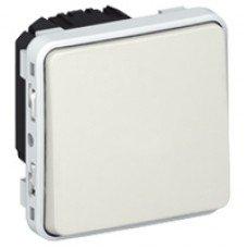 Plexo Переключатель на два направления 1-клавишный 10А, ІР55, ІК07 с безвинтовыми зажимами белый