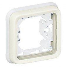 Plexo Рамка 1-постовая с суппортом, ІР55, ІК07, Белый