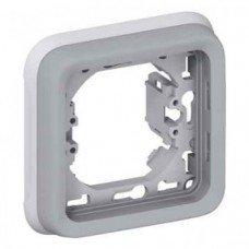 Plexo Рамка 1-постовая с суппортом, ІР55, ІК07, Серый