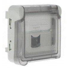 Plexo Розетка информационная RJ 45 категории 6- FTP, IP55, LCS2, Серый/Белый