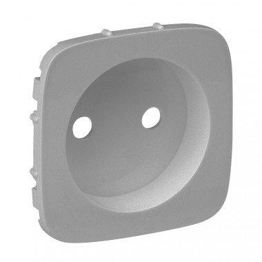 Valena ALLURE Лицевая панель розетки 2К Алюминий - описание, характеристики, отзывы