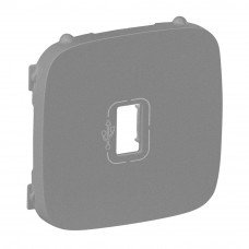 Valena ALLURE Лицевая панель розетки USB Алюминий