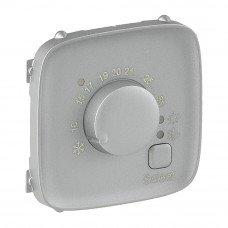 Valena ALLURE Накладка комнатного термостата Алюминий