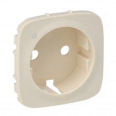 Valena ALLURE Накладка розетки 2К+З с индикатором Слоновая кость