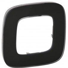 Valena ALLURE Рамка 1 пост Черное стекло