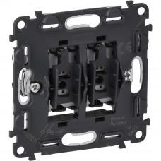 Valena IN`MATIC Выключатель 6А 250В кнопочный 2-клавишный, автоматические клеммы