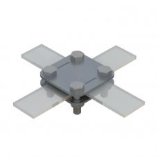 Соединитель Cross для полосы 2 пластины St/tZn C02/2