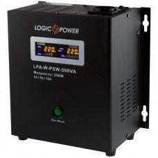 Источник бесперебойного питания с правильной синусоидой LPY-W-PSW- 500VA+ (350Вт)  5A/10A настенный, под внешнюю АКБ 12В Logicpower