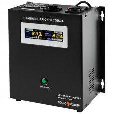 Источник бесперебойного питания с правильной синусоидой LPY-W-PSW-1000VA+ (700Вт)  10A/20A настенный, под внешнюю АКБ 12В Logicpower